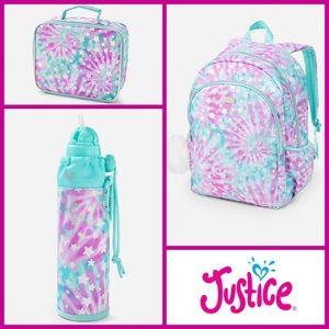 Justice Backpack BUNDLE Tie-Dye stars Accessories